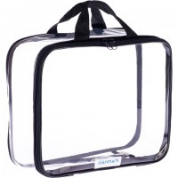 Clear Toiletry Bag - Compression Packing Cube Black