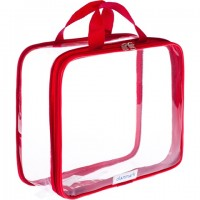 Clear Toiletry Bag - Compression Packing Cube Red