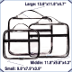 Olanmark Clear Packing Cubes 3 Set - Transparent Bags for Home Storage
